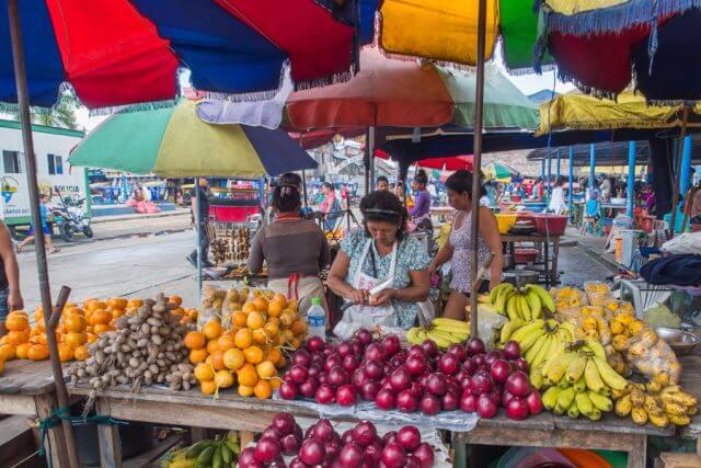 Massage School Abroad - Food Markets in Peru
